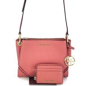 2PCS Michael Kors Nicole Crossbody Bag Wallet